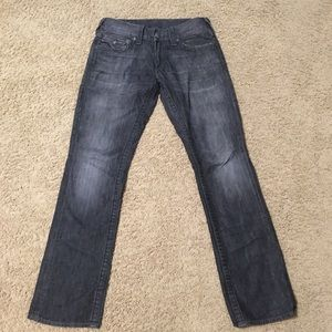 Men's Black True Religion Jeans